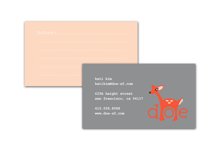 doe business cards